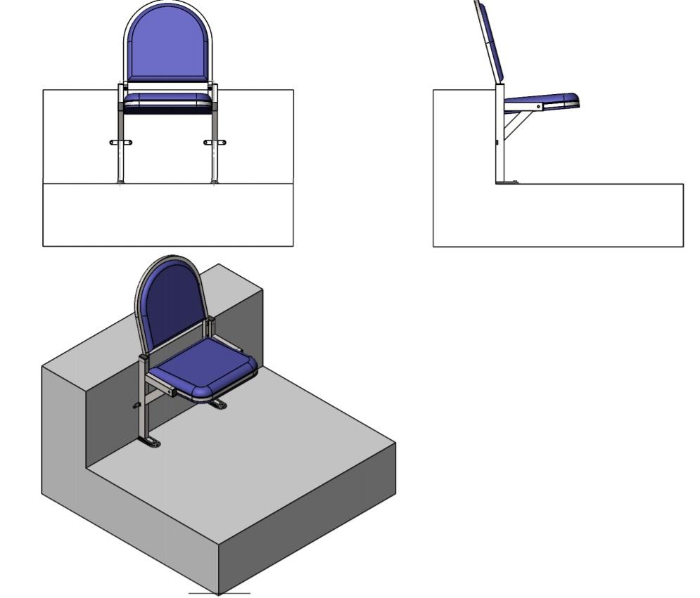 Чертеж кресла кд-08